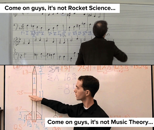 rocket science music theory